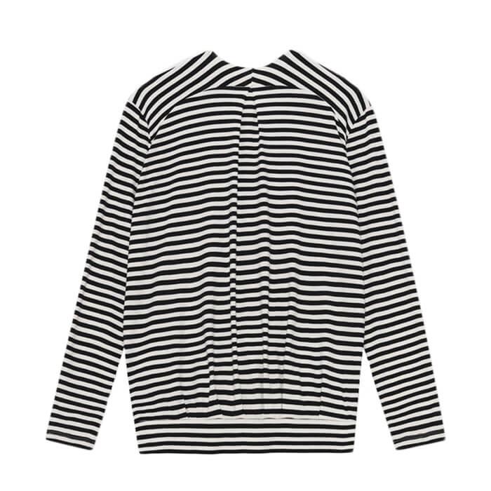 Moshi Moshi Mind pirouette top stripe, ecru/black bruun-bruun
